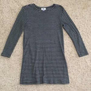 Black & White Pin Striped Tunic Top